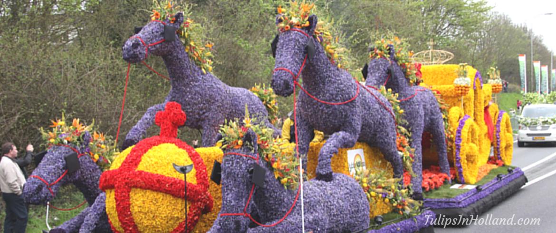 Bloemencorso Flower parade at Keukenhof