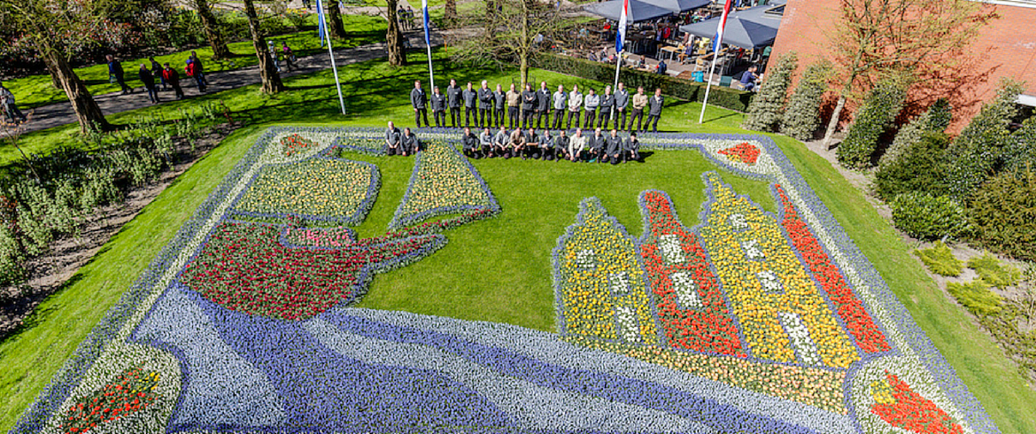 flower mosaic at Keukenhof