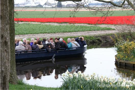 flowerfields by boat
